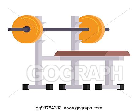 Vector Art Fitness Gym Club Vector Icons Athlet And Sport Activity Body Tools Wellness Dumbbell Equipment Clipart Drawing Gg98754332 Gograph