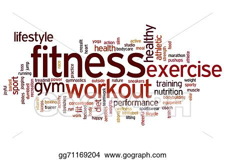 309f1a6185ef4 Stock Illustration - Fitness word cloud. Stock Art Illustrations ...