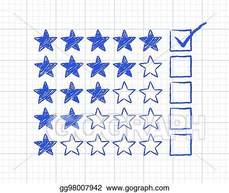 vector art five star graph paper tick clipart drawing gg98007942