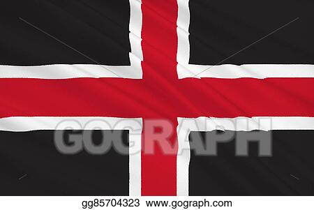 Stock Illustrations Flag Of Durham City England Stock Clipart