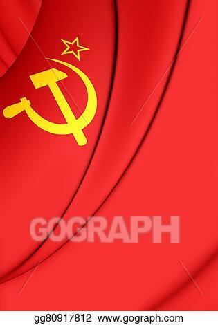 Stock Illustration Flag Of The Soviet Union 1923 1955 Clipart