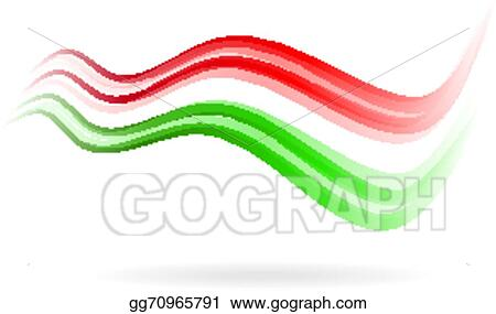 vector illustration flag swoosh read white green image stock rh gograph com swish clip art clipart swoosh lines
