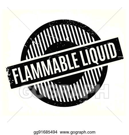 Flammable Liquid Rubber Stamp Clipart