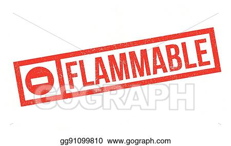 Vector Stock Flammable Rubber Stamp