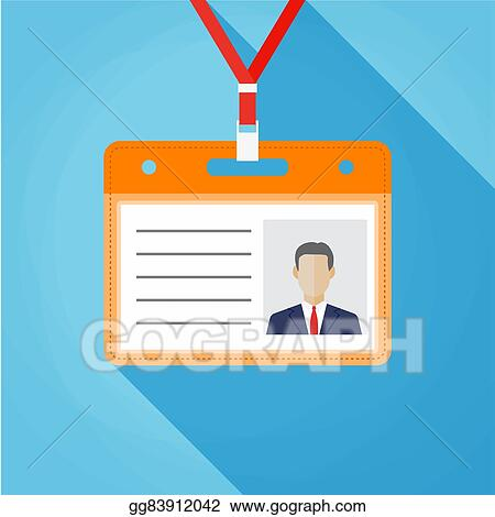 vector art flat design name tag badge template clipart drawing
