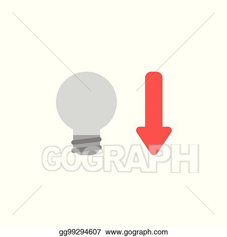 Vector Stock Flat Design Style Vector Concept Of Grey Light Bulb