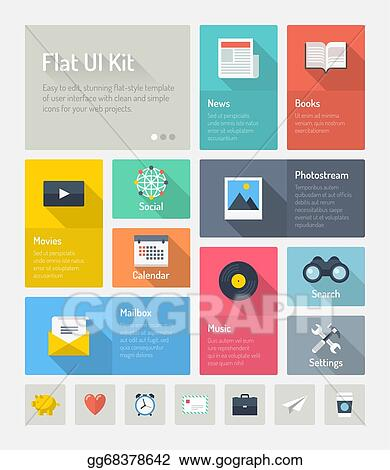 Vector Illustration Flat Infographic Website User Interface Concept Stock Clip Art Gg68378642 Gograph