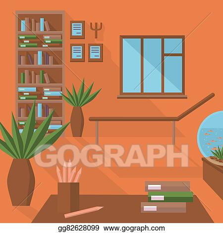 Vector Art Flat Psychologist Office Clipart Drawing Gg82628099