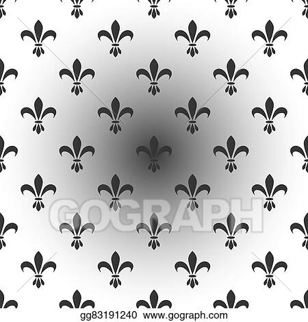 Vector Stock Fleur De Lis Seamless Vector Pattern French Vintage