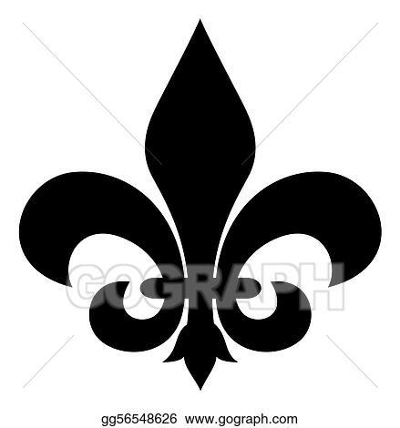 Clipart Fleur clipart - fleur-de-lis. stock illustration gg56548626 - gograph