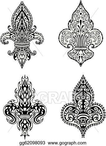 Fleur Illustration vector clipart - fleur-de-lis. vector illustration gg62098093 - gograph