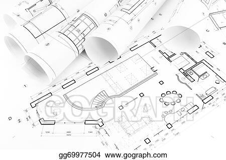 Stock Photo - Floor plan drawings