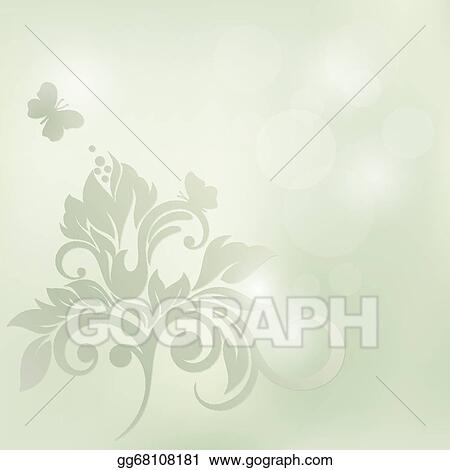 Vector Stock Floral Background Wedding Card Or Invitation