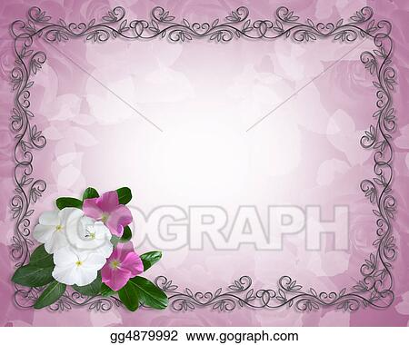 clip art floral border template periwinkle stock illustration