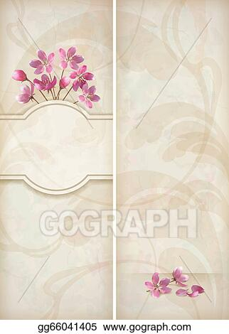 Vector stock floral decorative wedding menu template design stock vector stock floral vector decorative wedding menu or invitation template design with beautiful realistic bouquet of pink flowers abstract decorative mightylinksfo