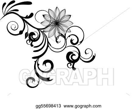 vector illustration floral design eps clipart gg55698413 gograph Flowery Design Clip Art floral design