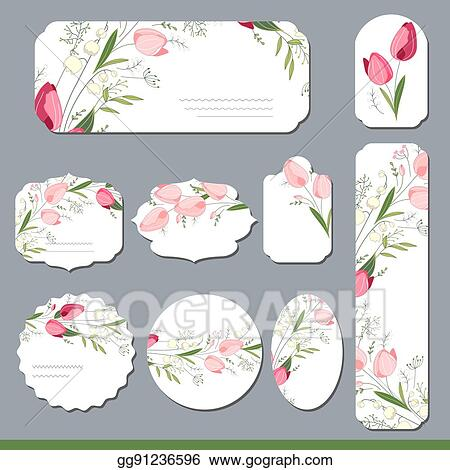 Vector illustration floral spring templates with cute tulips for floral spring templates with cute tulips for romantic and easter design announcements greeting cards posters advertisement mightylinksfo