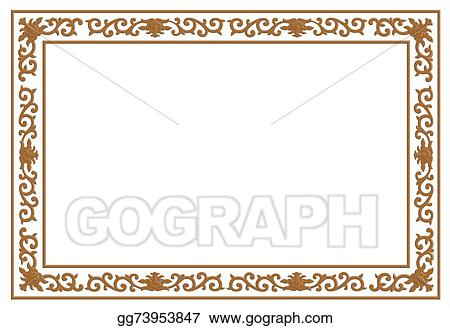 Floral Wood Carving Border