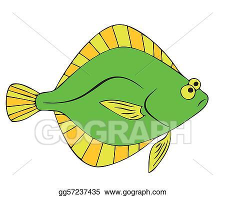vector stock flounder clipart illustration gg57237435 gograph rh gograph com flounder clipart png ariel flounder clipart
