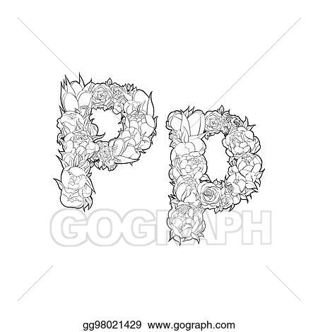 Vector Stock Flower Alphabet The Letter Q Clipart Illustration