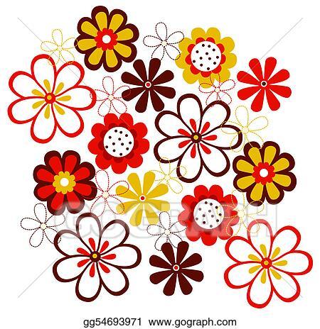 stock illustration flower pattern clipart gg54693971 gograph rh gograph com free flower pattern clipart