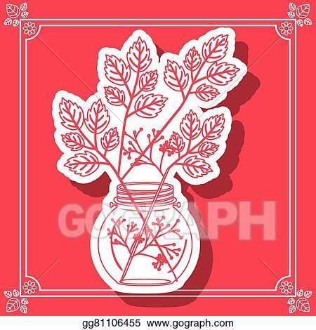 Vector Clipart Flower Vase Design Vector Illustration Gg81106455