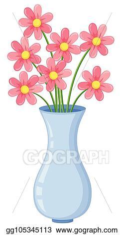 309 & Vector Illustration - Flower vase on white background. Stock Clip ...