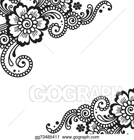 vector stock flower vector ornament corner clipart illustration gg73485411 gograph https www gograph com clipart license summary gg73485411