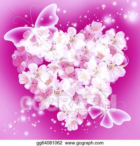 Stock Illustration Flowers In Heart Shape Clipart