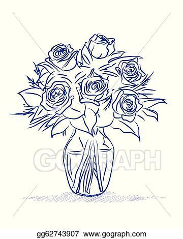 Clip Art Vector Flowers Sketch Stock Eps Gg62743907 Gograph