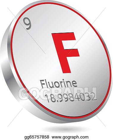 Vector Illustration Fluorine Element Eps Clipart Gg65757858 Gograph