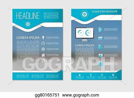 Vector Stock - Flyer brochure design layout template with