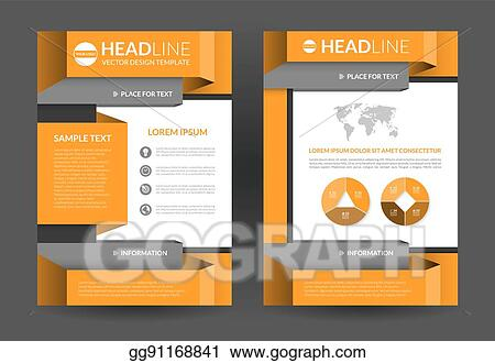 Eps Illustration Flyer Brochure Layout Template A4 Size Vector