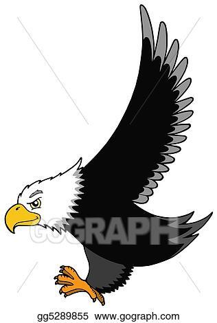stock illustration flying american eagle clipart gg5289855 gograph rh gograph com american eagle clipart american eagle clipart image
