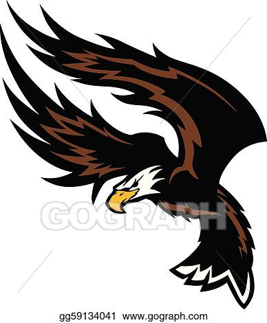 clip art vector flying eagle wings mascot design stock eps gg59134041 gograph https www gograph com clipart license summary gg59134041