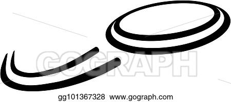 vector illustration flying frisbee eps clipart gg101367328 gograph rh gograph com frisbee golf clip art frisbee clip art free