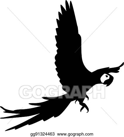 Flying Parrot Clip Art - Royalty Free - GoGraph