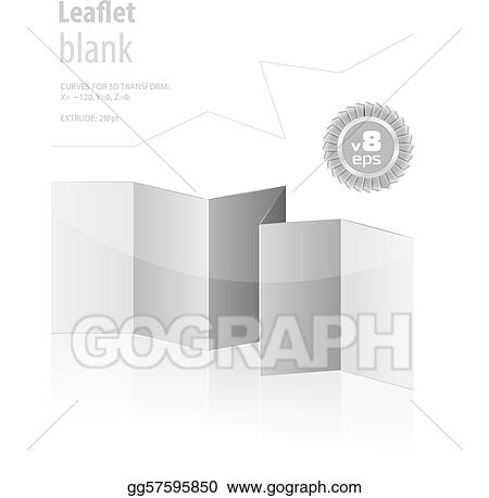 vector clipart folded blank menu for your design vector