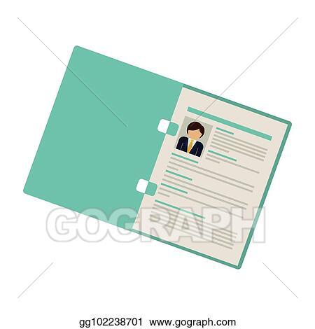 folder with man curriculum vitae