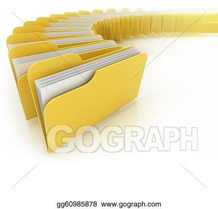 drawing folders in rush 3d concept clipart drawing gg60985878