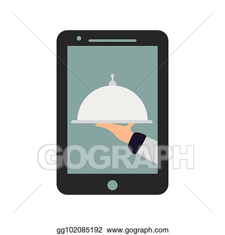 2e0e4e46b9b4 Vector Art - Food delivery from online platform icon image vector  illustration design. EPS clipart gg102085192