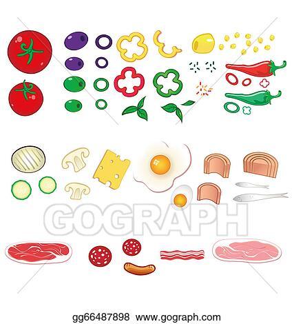 EPS Illustration - Food ingredients set. Vector Clipart ...