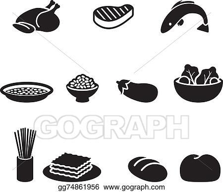 Vector Art Food Symbols Clipart Drawing Gg74861956 Gograph