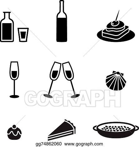 Vector Art Food Symbols Clipart Drawing Gg74862060 Gograph