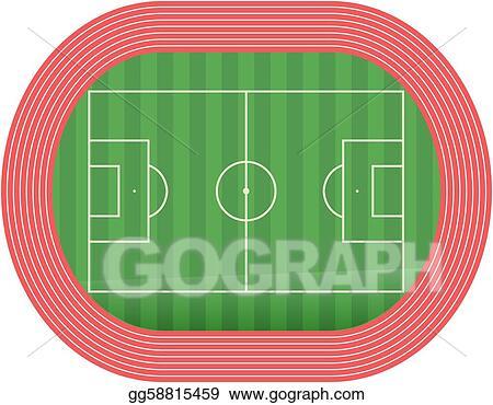 Vektor Illustration Football Fussball Feld Pech Stock