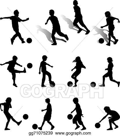 Vector Art Football Kids Clipart Drawing Gg71075239 Gograph