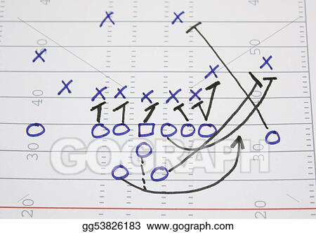 Stock Images Football Play Sweep Diagram Stock Photography
