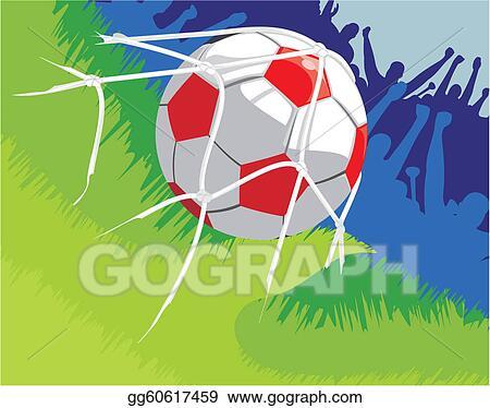 Vector Illustration - Football - shot on target  EPS Clipart