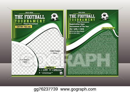Vector Art Football Tournament Flyer Template Clipart Drawing