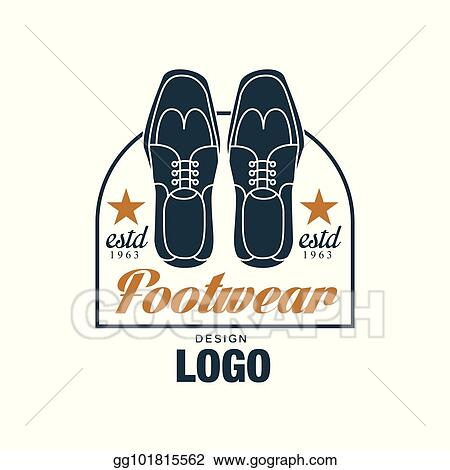 Vector Illustration - Footwear logo design, estd 1963, vintage badge